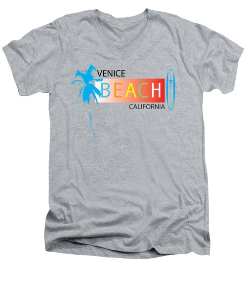 Venice Beach California T-shirts And More Men's V-Neck T-Shirt