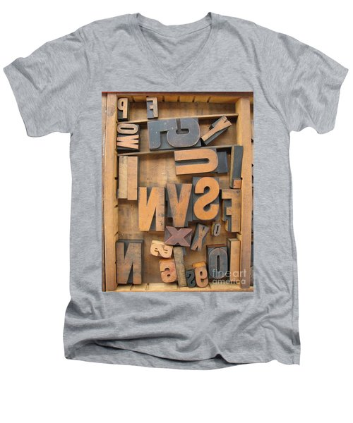 Printers Box Men's V-Neck T-Shirt