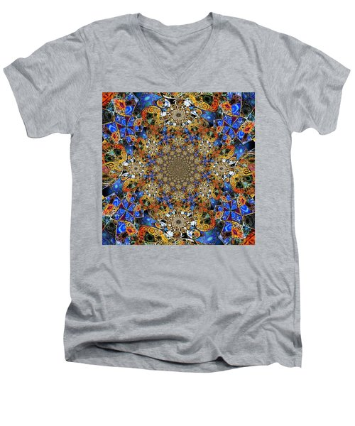 Prismatic Glasswork Men's V-Neck T-Shirt by Nick Heap