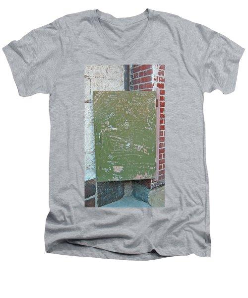Prison Graffiti 2 Men's V-Neck T-Shirt