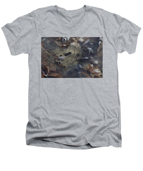 Men's V-Neck T-Shirt featuring the photograph Prisoner Of The Ice by Cendrine Marrouat