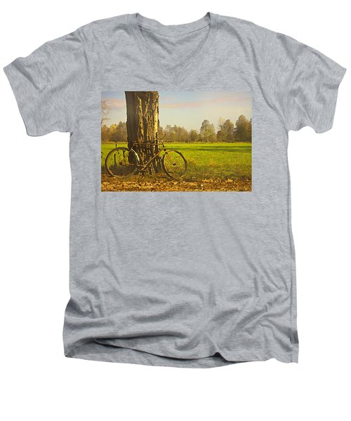 Private Parking Men's V-Neck T-Shirt