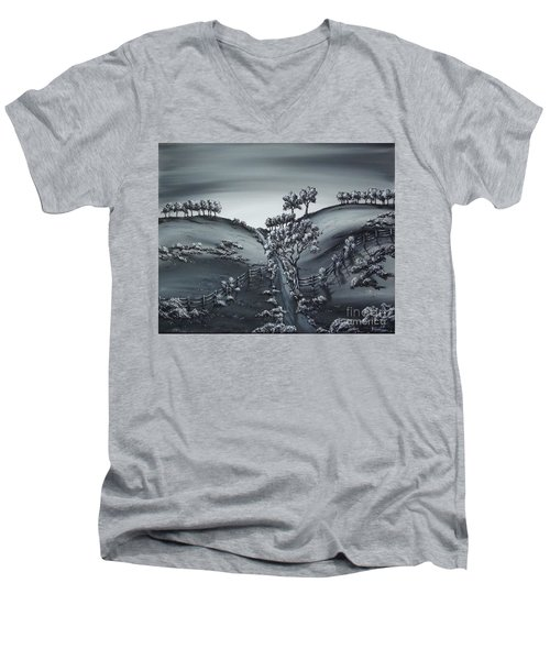 Private Road Men's V-Neck T-Shirt by Kenneth Clarke