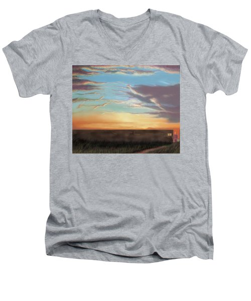 Private Sunrise.  Keep Out Men's V-Neck T-Shirt