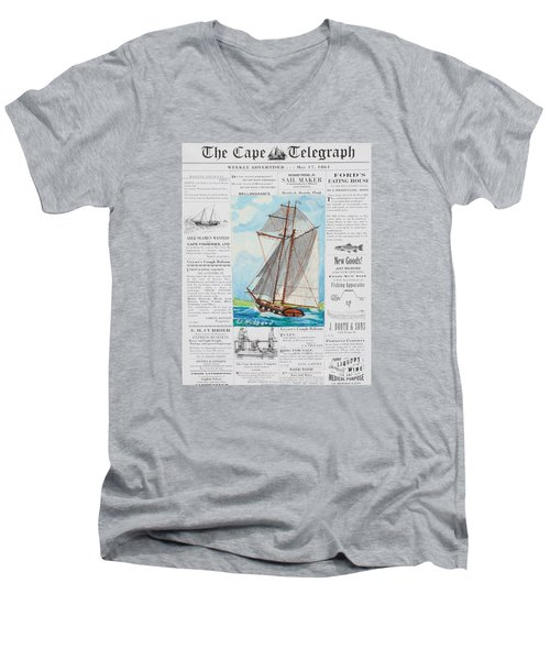 Privateer Off Charleston, Sc Men's V-Neck T-Shirt