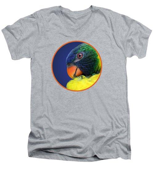 Profile Of A Lorikeet Men's V-Neck T-Shirt
