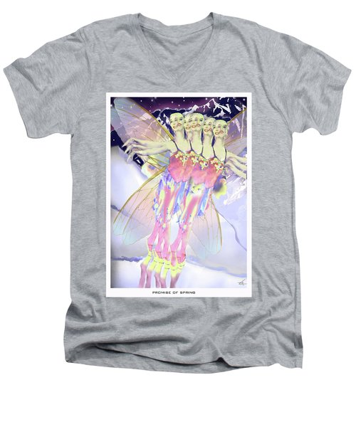 Promise Of Spring Men's V-Neck T-Shirt
