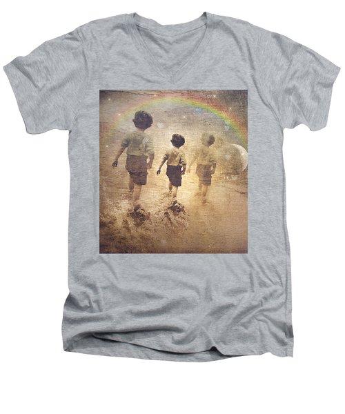 Phases Of The Journey--the Promise Of The Rainbow Men's V-Neck T-Shirt