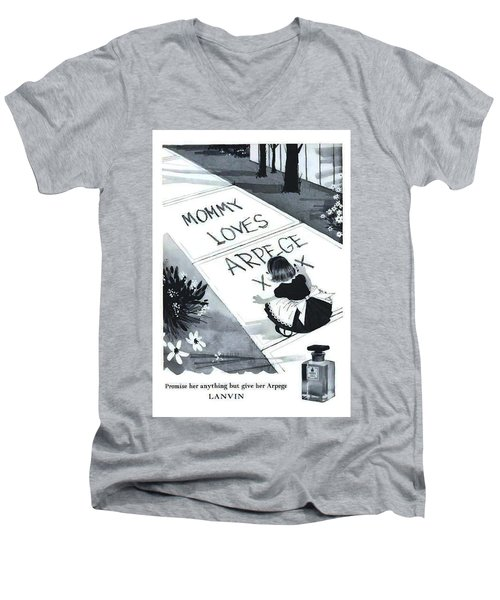 Men's V-Neck T-Shirt featuring the digital art Promises by ReInVintaged