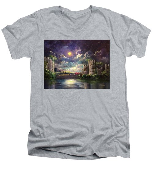 Proposal Underneath The Moon Men's V-Neck T-Shirt