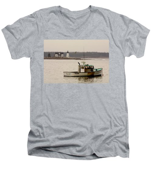Prospect Harbor Lighthouse Men's V-Neck T-Shirt