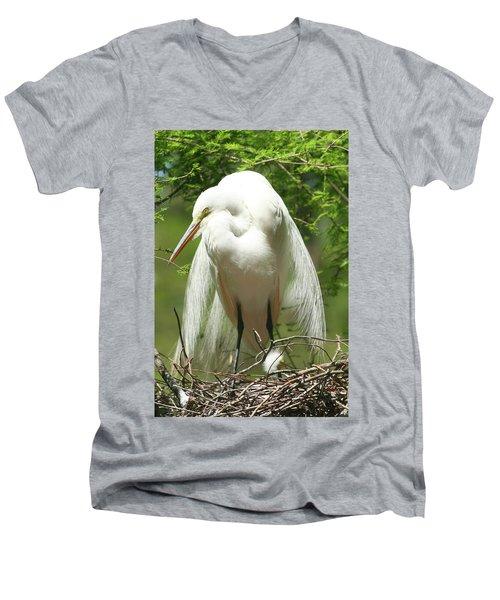 Protecting Men's V-Neck T-Shirt
