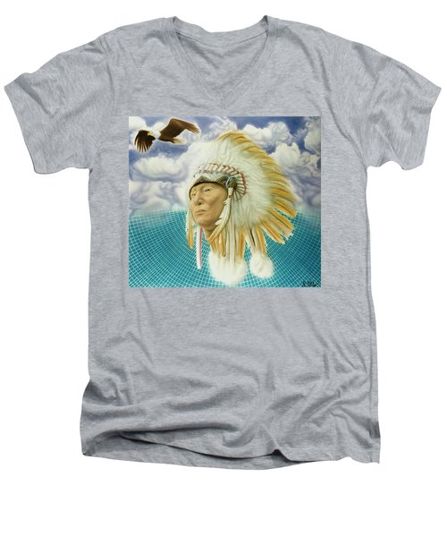 Proud As An Eagle Men's V-Neck T-Shirt