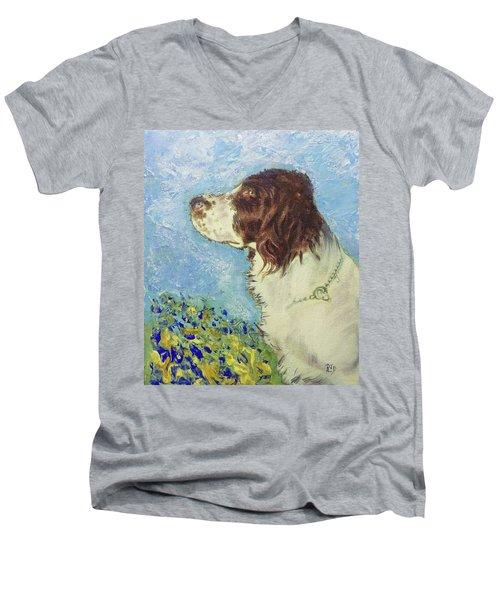 Proud Spaniel Men's V-Neck T-Shirt