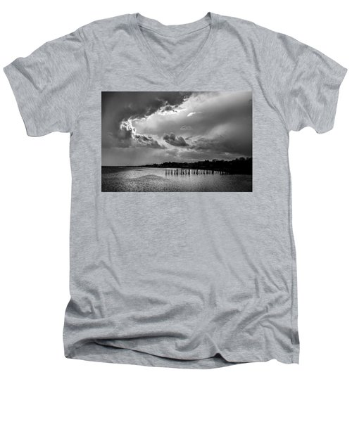 Men's V-Neck T-Shirt featuring the photograph Provincetown Storm by Charles Harden