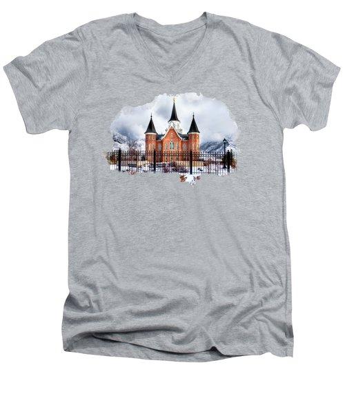 Provo City Center Temple Lds Large Canvas Art, Canvas Print, Large Art, Large Wall Decor, Home Decor Men's V-Neck T-Shirt