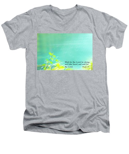 Psalm 27 Men's V-Neck T-Shirt by Catherine Alfidi