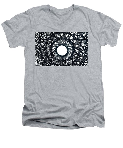 Psychedelic Concentric Circle Men's V-Neck T-Shirt