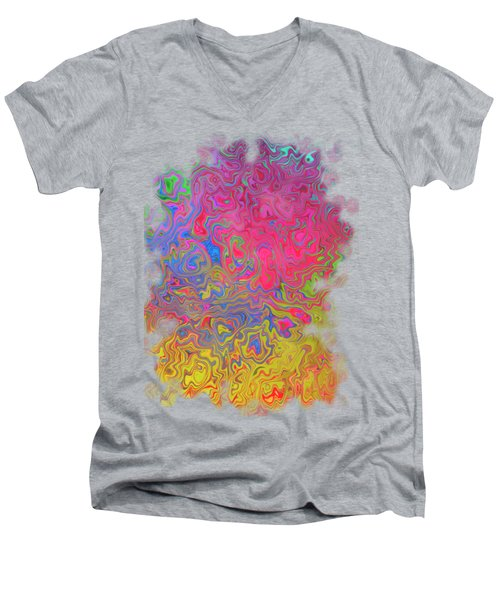 Psychedelic Laundry Transparent Design Men's V-Neck T-Shirt by Shelly Weingart