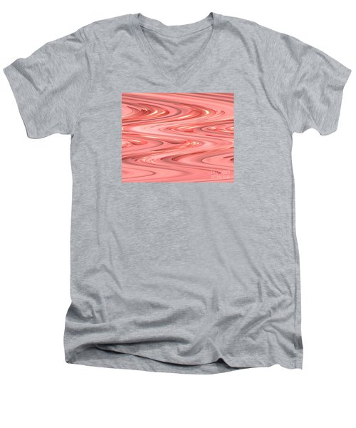 Psychedelic Zigzag Men's V-Neck T-Shirt