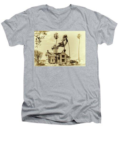 Pt. Fermin Lighthouse Men's V-Neck T-Shirt