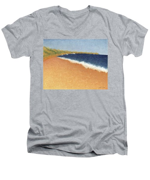 Pt. Reyes Beach Men's V-Neck T-Shirt