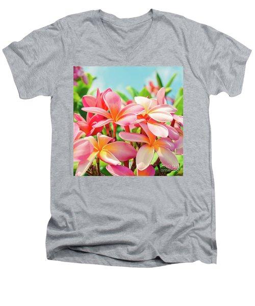 Pua Melia Ke Aloha Maui Men's V-Neck T-Shirt