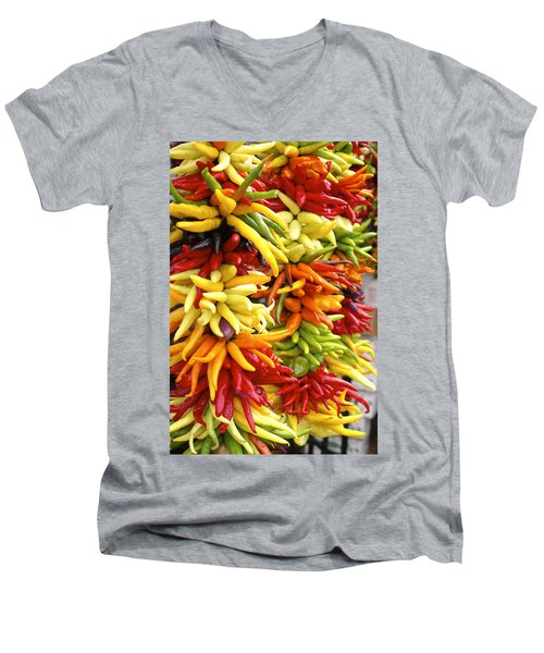 Public Market Peppers Men's V-Neck T-Shirt