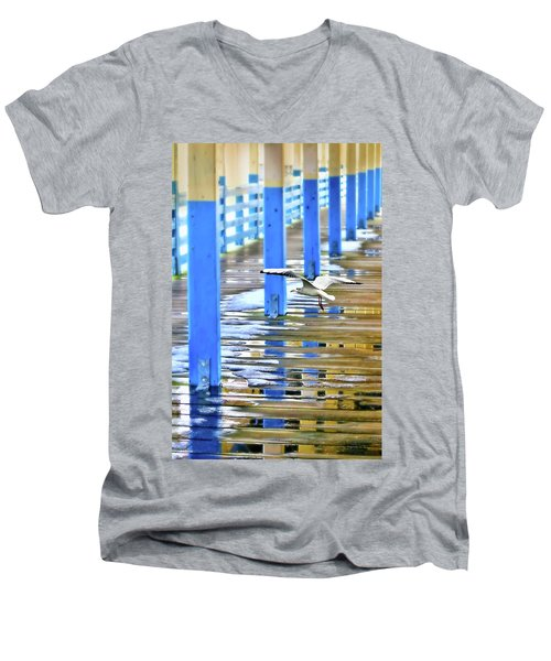 Men's V-Neck T-Shirt featuring the photograph Puddles by Diana Angstadt