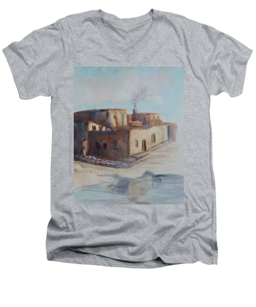 Pueblo After The Rain Men's V-Neck T-Shirt