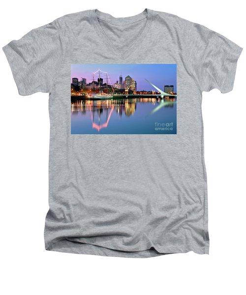Puerto Madero I Men's V-Neck T-Shirt by Bernardo Galmarini