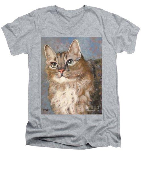 Puff  Ball Men's V-Neck T-Shirt