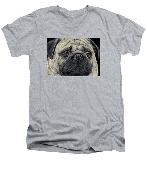 Pugshot Men's V-Neck T-Shirt