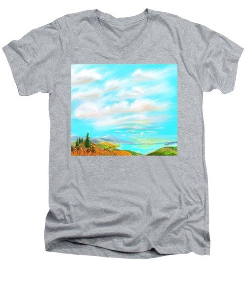 Pumkins Men's V-Neck T-Shirt