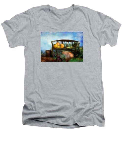 Pumpkin Harvest Respite Men's V-Neck T-Shirt