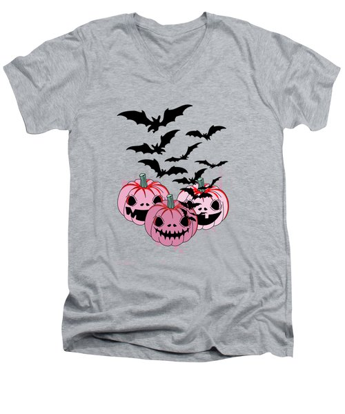 Pumpkin  Men's V-Neck T-Shirt by Mark Ashkenazi