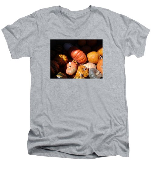 Punkin Patch Men's V-Neck T-Shirt by Fred Wilson