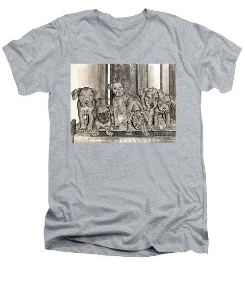 Puppies  Men's V-Neck T-Shirt