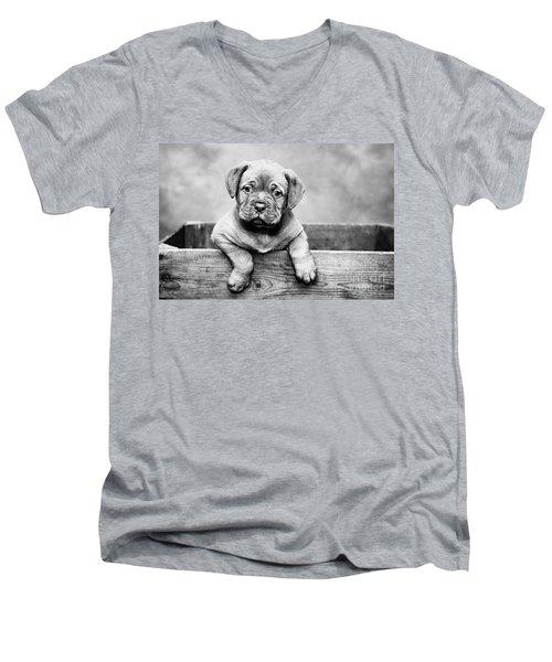 Puppy - Monochrome 3 Men's V-Neck T-Shirt