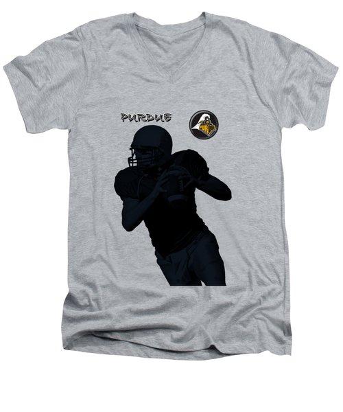 Purdue Football Men's V-Neck T-Shirt