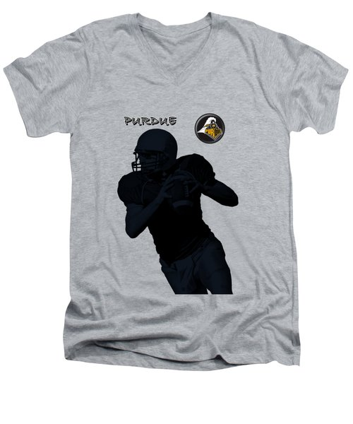 Purdue Football Men's V-Neck T-Shirt