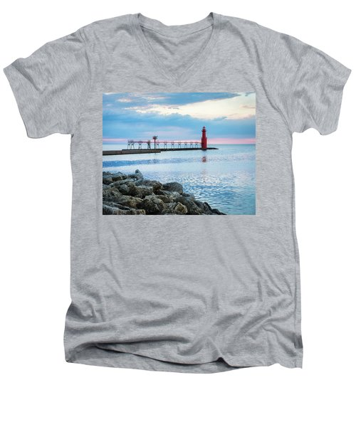 Men's V-Neck T-Shirt featuring the photograph Pure Algoma by Bill Pevlor
