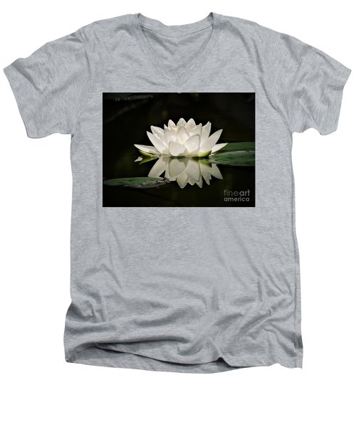 Pure And White Men's V-Neck T-Shirt