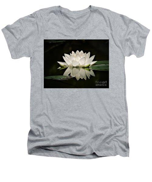 Pure And White Men's V-Neck T-Shirt