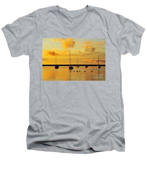 Pure Michigan Gold Men's V-Neck T-Shirt