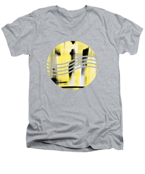 Pure Spirit Abstract Men's V-Neck T-Shirt by Christina Rollo