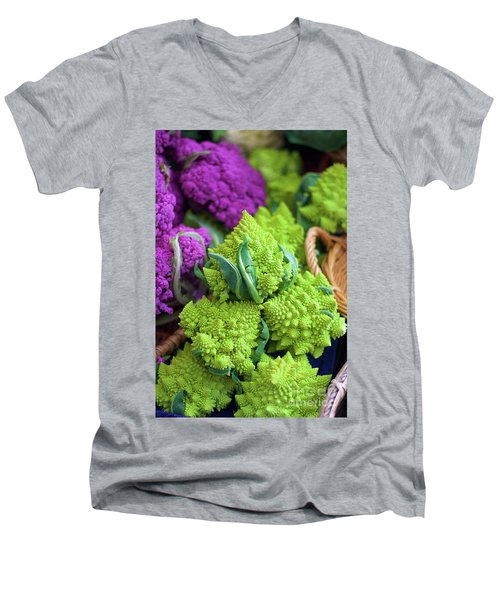 Purple And Romanesco Cauliflower Men's V-Neck T-Shirt