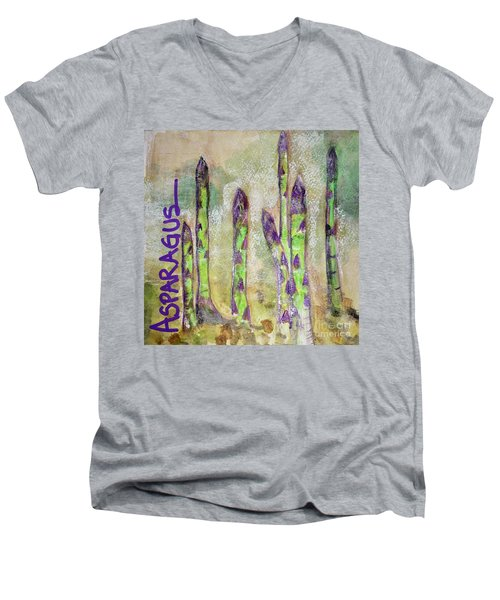 Purple Asparagus Men's V-Neck T-Shirt