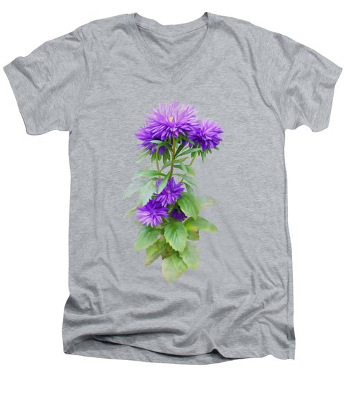 Purple Aster Men's V-Neck T-Shirt