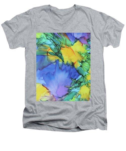 Purple Bird Of Paradise Men's V-Neck T-Shirt